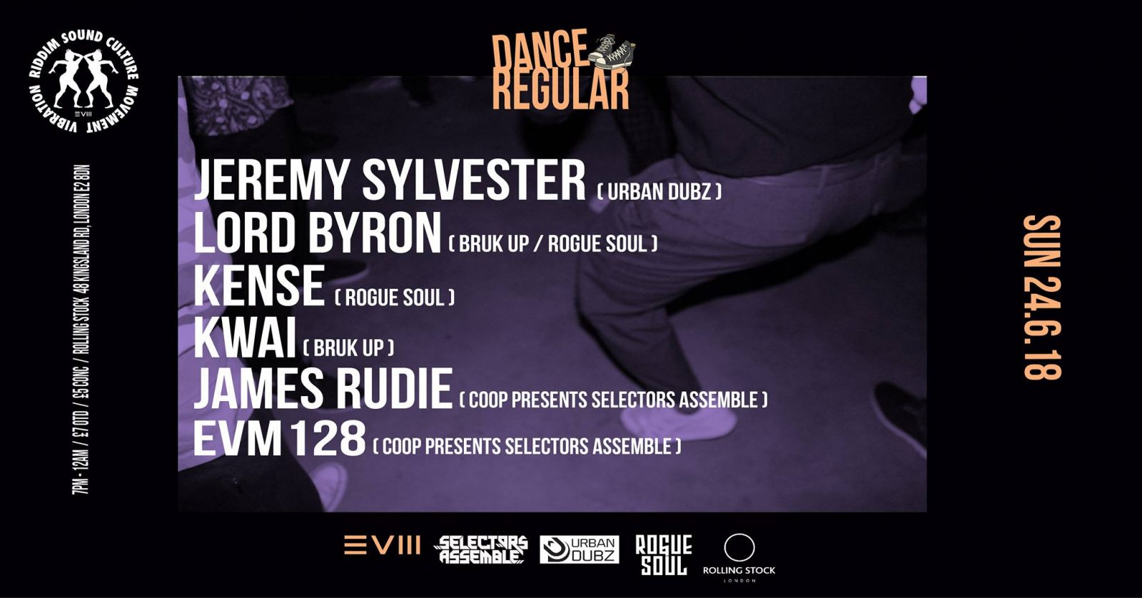 Dance Regular - Sun 24/06/18